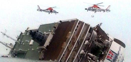 Imagen del hundimiento del buque Sewol