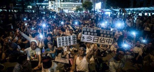 Manifestantes durante las protestas en Hong Kong
