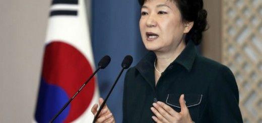 La presidenta de Corea del Sur,Park Geun-hye