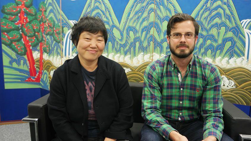 Yin Soon-rye con Javier Villamor