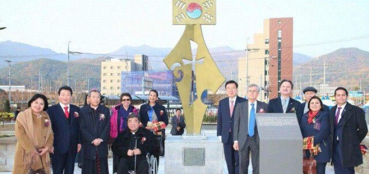 Monumento a Céspedes en Changwon.