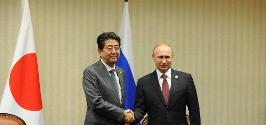 Shinzo Abe y Vladímir Putin