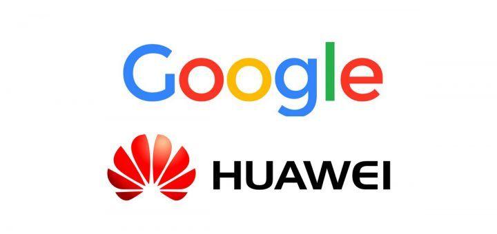 Logo de Google y Logo de Huawei