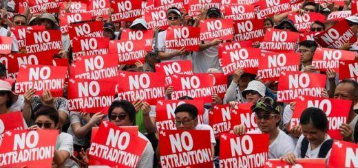 Manifestación contra la ley de extradición China